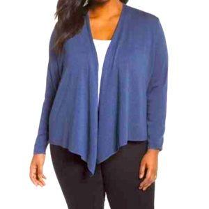 NIC+ZOE Women's Plus Size Blue 4-Way Cardigan